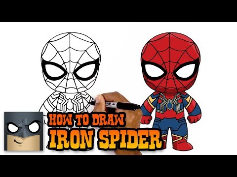 Infinity War How To Draw Iron Spider Art Tutorial Youtube