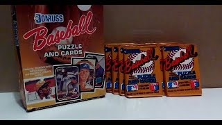 Retro 1987 Donruss 10 Wax Pack Break- Sick Diamond Kings and Roberto Clemente Puzzle