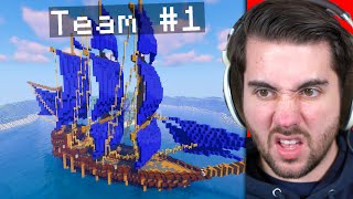 Can 100 Minecraft Players Build A MEGA BOAT Before They Die?