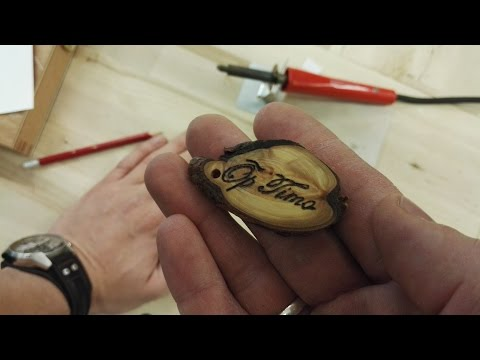 How to make wooden keychain with your text burnt into it