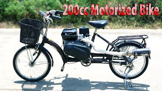 Build a 200cc Motorized Bike 60km/h at home - v3 - Tutorial