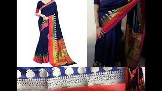 Flipkart Rola Trendz Self Design Royal blue Saree |Must buy Saree |Genuine Reviews on Flipkart Saree