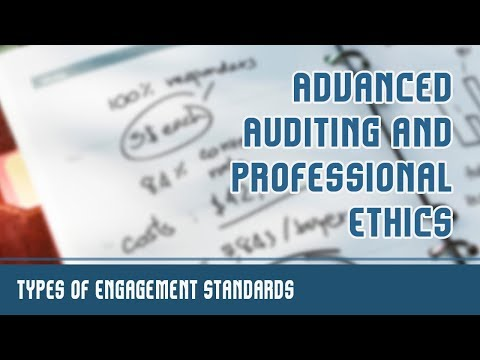 Standards On Auditing l Types of Engagement Standards l Advanced Auditing & Professional Ethics