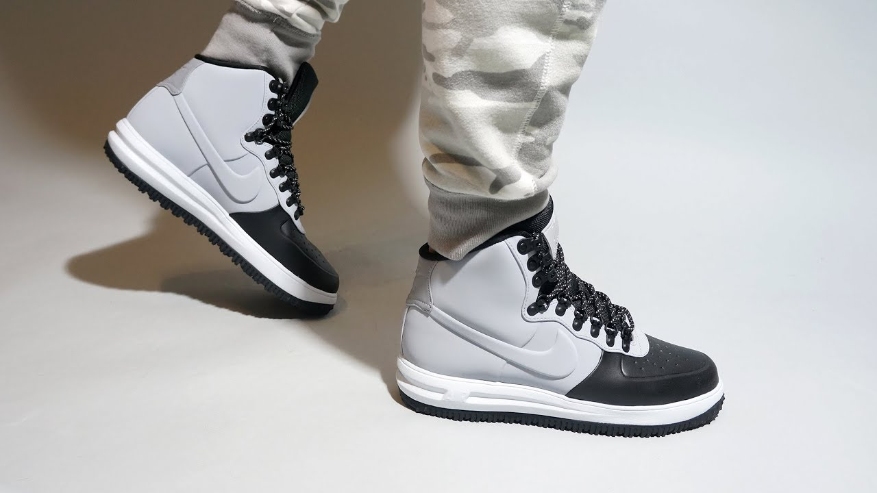 wholesale dealer 1df5c 71798 Nike Lunar Force 1 Duckboot  18 Black BQ7930-002 on feet
