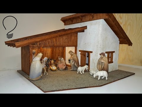 Nativity Scene out of Wood (Part 3 of 3)- Roof Shingles and Finishing