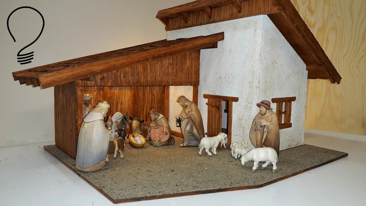 Nativity Scene Out Of Wood Part 3 Of 3 Roof Shingles