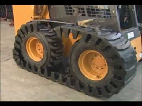 Quick Attach Solideal Skid Steer Over the Tire Track Install