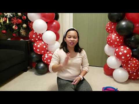 Minnie Mouse Balloon Decor Without Helium | How To | DIY Balloon Tutorial