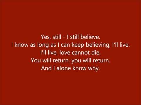 """I Still Believe"" (Miss Saigon) Duet With Janina"