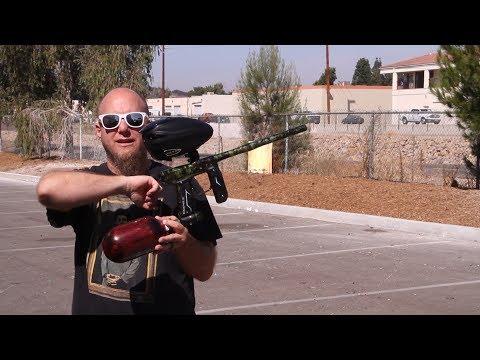 Empire Axe 2.0 Paintball Gun - Shooting