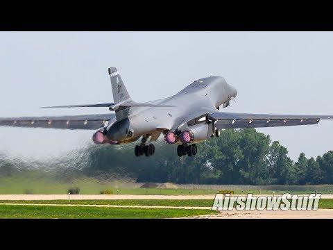 B-52 and B-1 Departures - EAA AirVenture Oshkosh 2017
