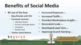 Business Catalyst Social Media | Adobe BC Training