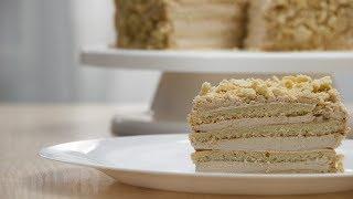 Быстрый торт с кремом брюле за 15 минут - невероятно вкусный и простой рецепт
