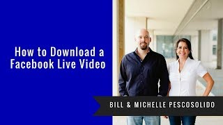 How to Download a Facebook Live Video From Facebook