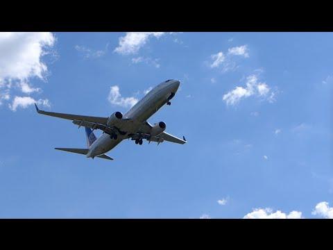 Dulles, Virginia - Jets Land at Washington Dulles International Airport HD (2016)