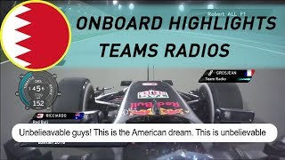 F1 Onboard highlights & Team Radios | 2016 BAHRAIN GRAND PRIX