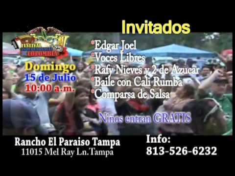 ESPIRITUS ROCK en El Festival Oficial de la Independencia de Colombia en Tampa Bay 15 de Julio 2012