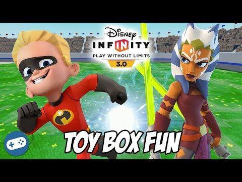 Dash And Ahsoka Tano Disney Infinity 3.0 Toy Box Fun Gameplay