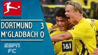 Erling Haaland & Gio Reyna shine in Dortmund's win vs. Borussia M'Gladbach | Bundesliga Highlights