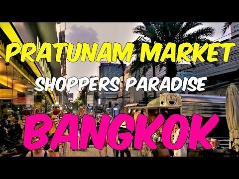 Pratunam Market Bangkok - Walking Tour ( Shopping in Bangkok )