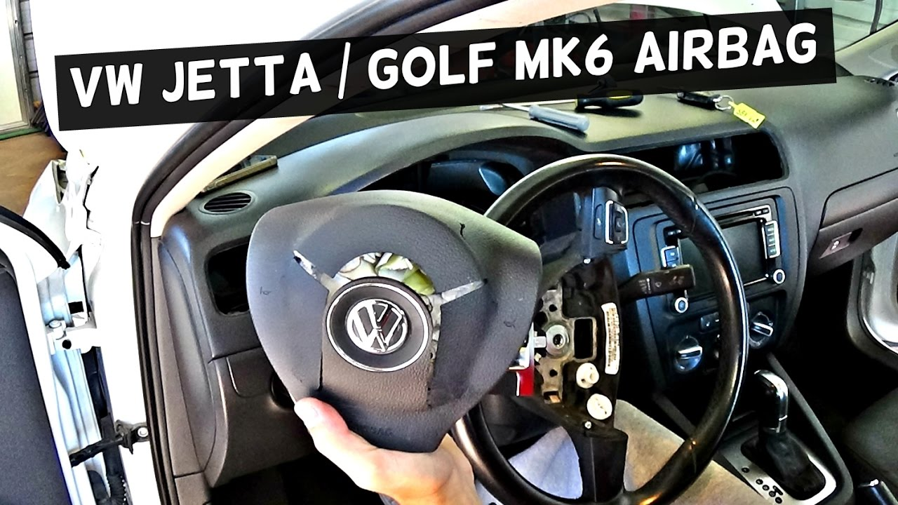VW JETTA MK6 DRIVER AIRBAG REMOVAL REPLACEMENT | VW GOLF ...