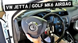 VW JETTA MK6 DRIVER AIRBAG REMOVAL REPLACEMENT | VW GOLF MK6