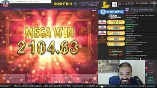 Roshtein play online casino now