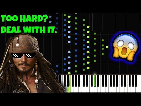 INCREDIBLE Pirates of the Caribbean [INSANE Piano Tutorial] (Synthesia) //Jarrod Radnich