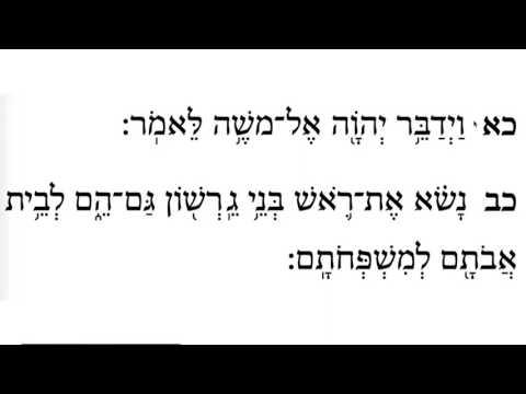 Naso (Take Up) - Numbers 4:21-23 - Learn Biblical Hebrew & Trope - Full Class