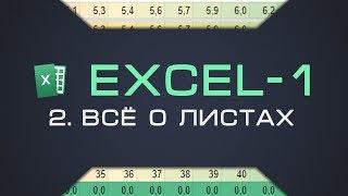 2. Листы Excel. Защита листов | Курс Excel-1