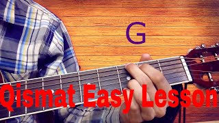 Qismat(Ammy Virk) Latest Punjabi Song Easiest Guitar Lesson
