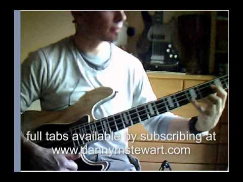 Slap Bass: heavy rock Pedal tone riff.