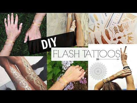 DIY Flash Tattoos ≫
