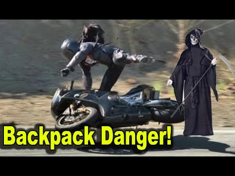 Unsafe Motorcycle Backpacks Crash Risk Danger Best