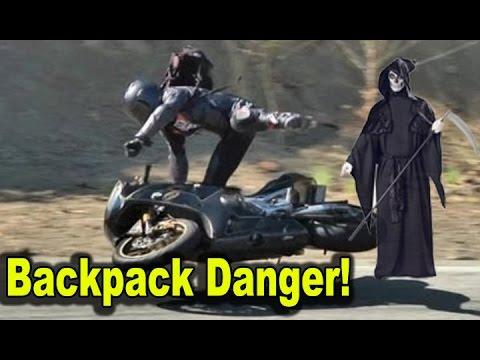Unsafe Motorcycle Backpacks  Crash Risk Danger  Best