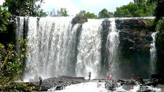 Bousra Waterfall at Mondulkiri Province - Bousra Natural Resort in Cambodia
