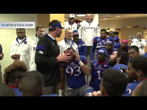 KU Locker Room Celebration // Kansas Football // 11.8.14