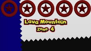 Sonic Lost World - Lava Mountain Zone 4 - All Red Star Rings