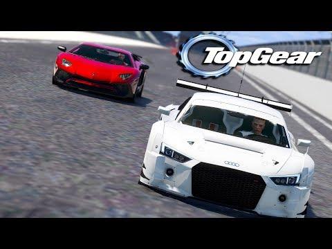 GTA V: TOP GEAR | AUDI R8 vs LAMBORGHINI AVENTADOR, QUAL CORRE MAIS ?