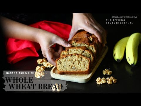 Homemade Whole Wheat Bread with Banana and Walnuts | Easy Whole Wheat Bread | Healthy and Eggless