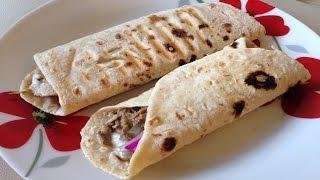 Lebanese Chicken Shawarma Wrap -  شاورما الدجاج المتبلة - Easy Recipe