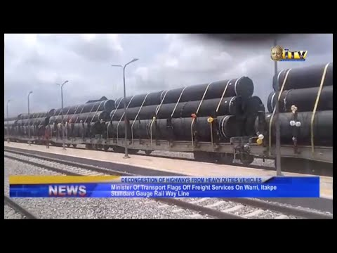Minister of Transport flags off freight services on Warri-Itakpe standard gauge railway line