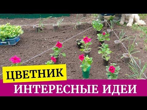 🌸Как построить цветник своими руками. Создаем цветник из петуний, лобелий, газаний и пеларгонии🌸