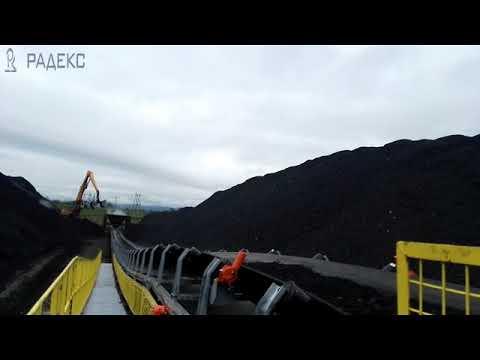 Ленточный конвейер 200 метров для ООО «Угольный Морской Порт Шахтерск» (о. Сахалин) видео 2