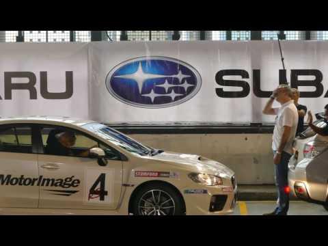 Russell Swift parking stunt : Singapore MotorShow ( 2017 )