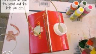 How To Make A Milk Carton Bird Feeder