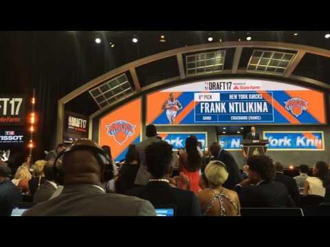 Knicks fans boo 1st-round pick Frank Ntilikina at 2017 NBA Draft