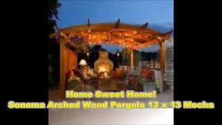 Buy Used Sonoma Arched Wood Pergola 12x13 Mocha