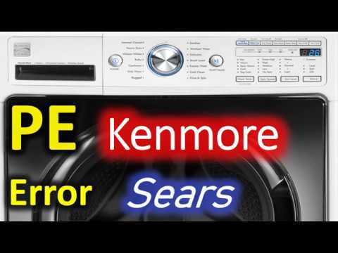 PE Error Code SOLVED!!! Kenmore 796 Front Load Washer Washing Machine