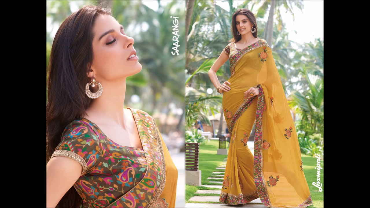 4fa0293b01 Laxmipati Sarees Video - SAARANGI Designer Embroidery Sarees Collections'  Catalog Wholesale/Retail - YouTube